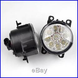 2× Front 9 LED Fog Light DRL White Lamps For Ford Fiesta MK6 MK7 C-Max Focus