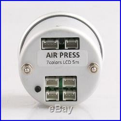 52mm Digital Air Gauge Air Suspension PSI BAR 5ps 1/8NPT Electrical Sensors UK