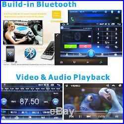 7Android Car Radio Stereo MP5 MP3 Player 2Din Bluetooth FM AUX USB Head Unit+Ca