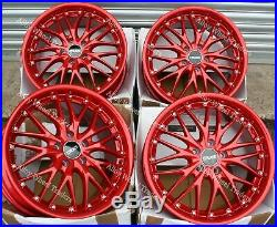Alloy Wheels 18 190 For Mitsubishi Renault Megane 5x114 Models Red