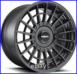 Alloy Wheels (4) 8.5x19 Rotiform LAS-R Black Matt 5x112/114.3 et45