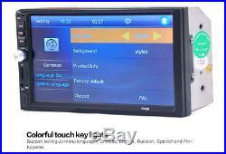 Car Radio Audio Stereo MP5 Player 2Din USB FM Bluetooth + Rear View Camera NEW