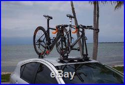 Car Truck 2 Bike Fork Mount Roof Car Rack Heavy-Duty Rack &2 Rear Wheel Straps