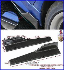 Universal Side Skirt Extension Blades Rocker Splitter 45cm Carbon Fibre-rnt2