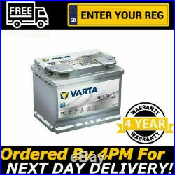 Varta D52 AGM Start Stop Car Battery 12V 60Ah 680A 242x175x190mm